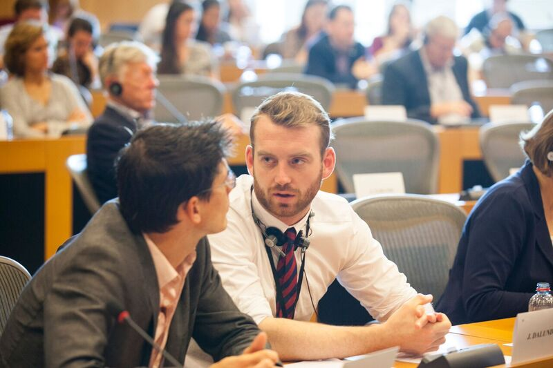 Jakop Dalunde i konversation i Europaparlamentet 1