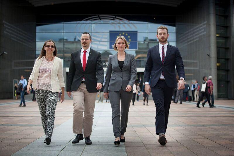 MP i EU: Bodil Valero, Max Andersson, Linnéa Engström och Jakop Dalunde