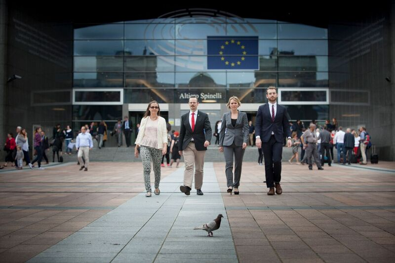 MP i EU2: MP i EU: Bodil Valero, Max Andersson, Linnéa Engström och Jakop Dalunde